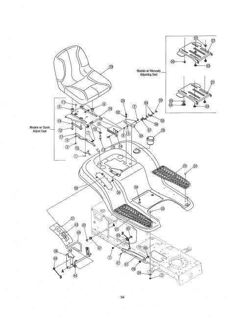 small resolution of mtd 13ag601h729 seat fender diagram