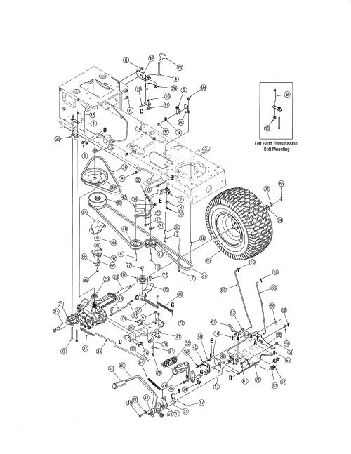 small resolution of mtd 13al606g730 drive diagram