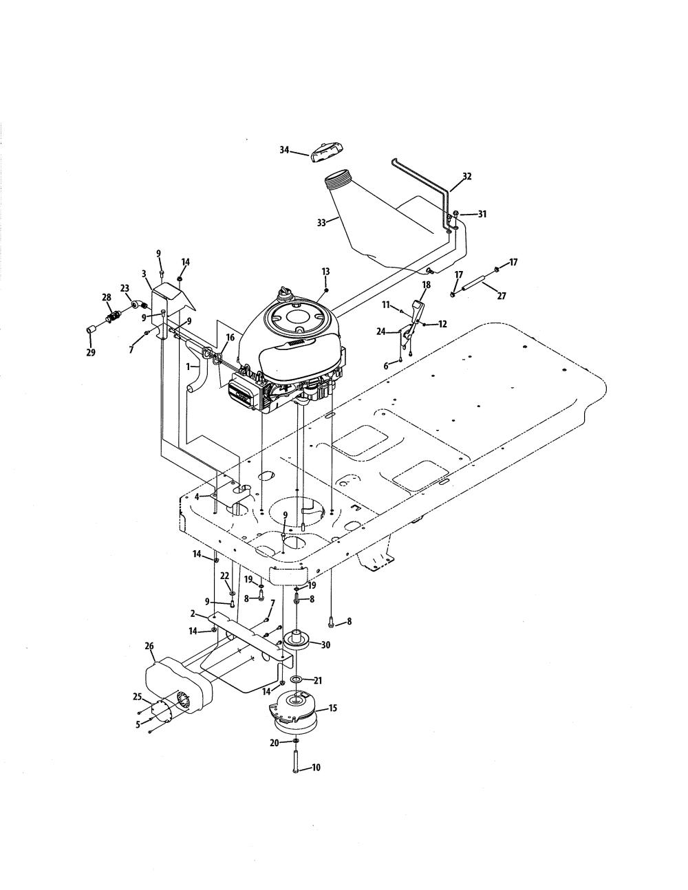 medium resolution of mtd 17ac2acg055 engine connection 42 w briggs engine diagram