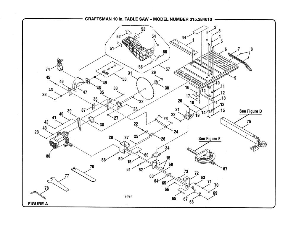 medium resolution of craftsman 10 quot table saw parts model 315284610 sears craftsman table saw relay craftsman table saw relay