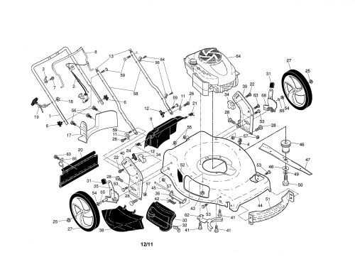 small resolution of craftsman 917370430 engine housing handle diagram