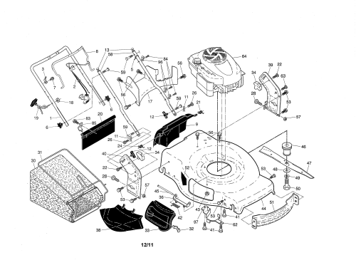 small resolution of craftsman 917370920 engine housing handle diagram