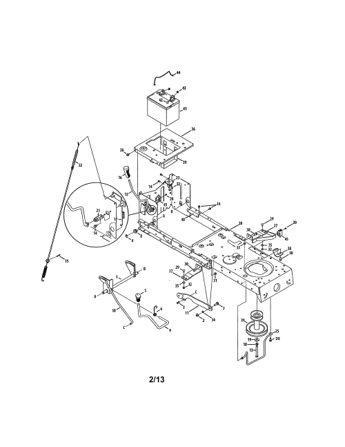 small resolution of craftsman 247288852 battery frame diagram