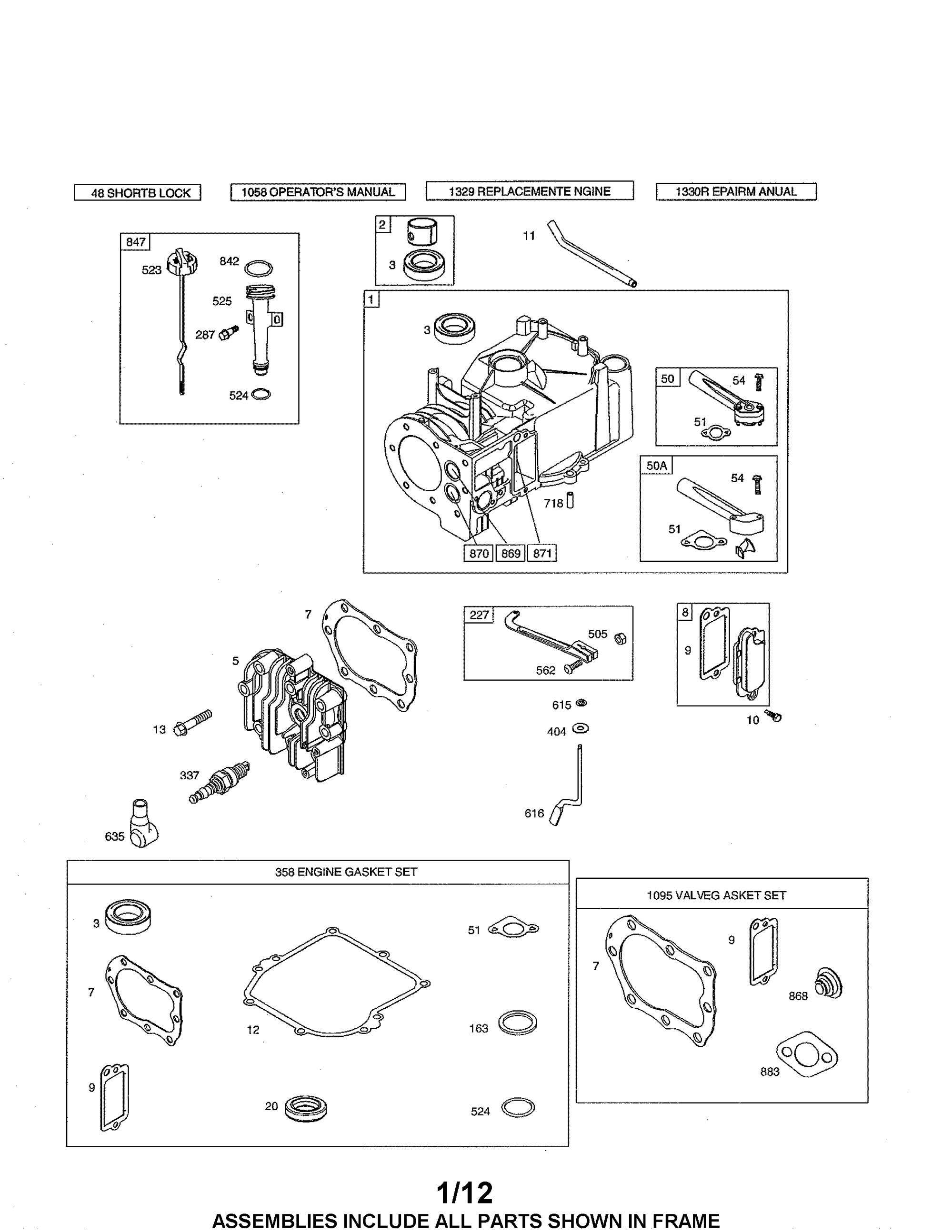 hight resolution of briggs stratton 10l802 5547 f2 cylinder assembly diagram