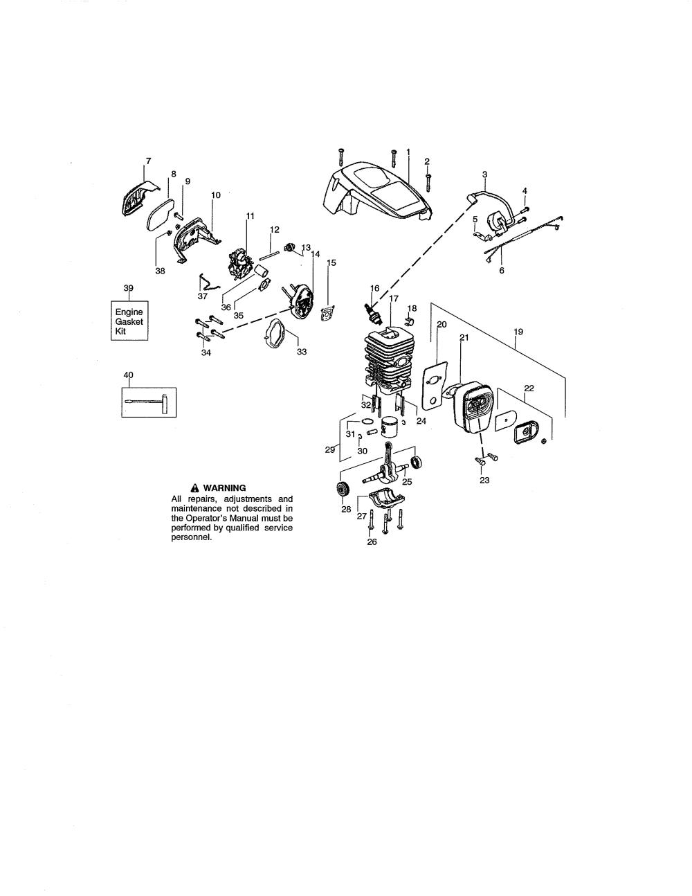 medium resolution of craftsman 42cc chainsaw carburetor engine diagram