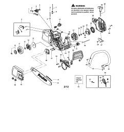 looking for poulan model p3816 type 2 gas chainsaw repair handle chain and guide bar diagram and parts list for poulan chainsaw [ 2550 x 3300 Pixel ]