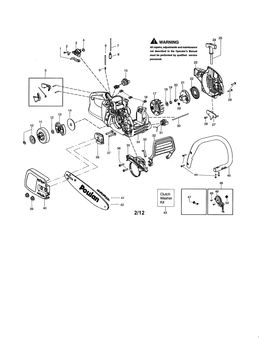 medium resolution of looking for poulan model p3816 type 2 gas chainsaw repair handle chain and guide bar diagram and parts list for poulan chainsaw