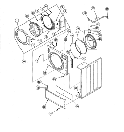 alliance ate50fgp171tw01 front panel door door seal diagram [ 2550 x 3300 Pixel ]