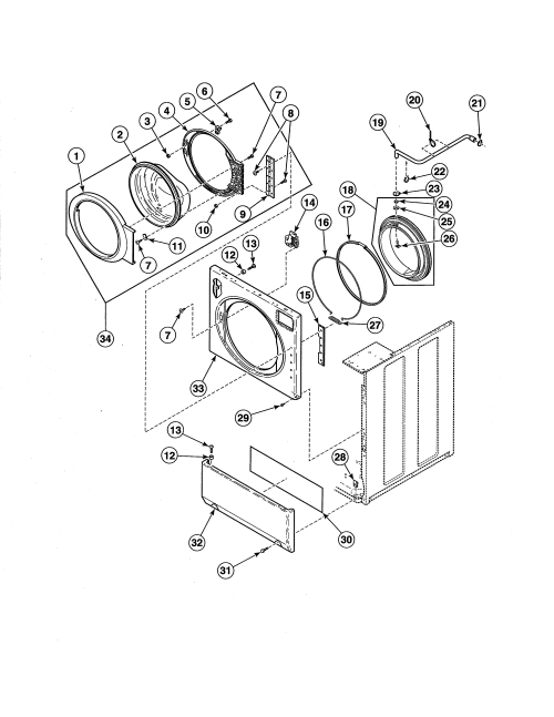 small resolution of alliance ate50fgp171tw01 front panel door door seal diagram