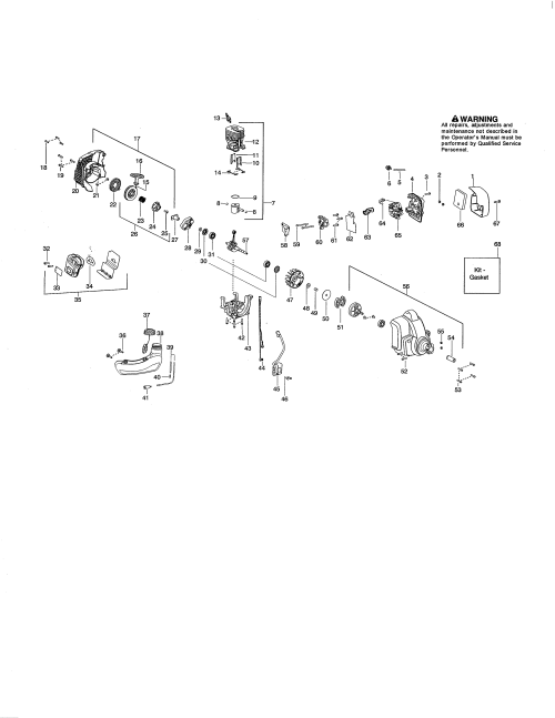 small resolution of poulan pp335 type 2 cylinder fuel tank muffler diagram