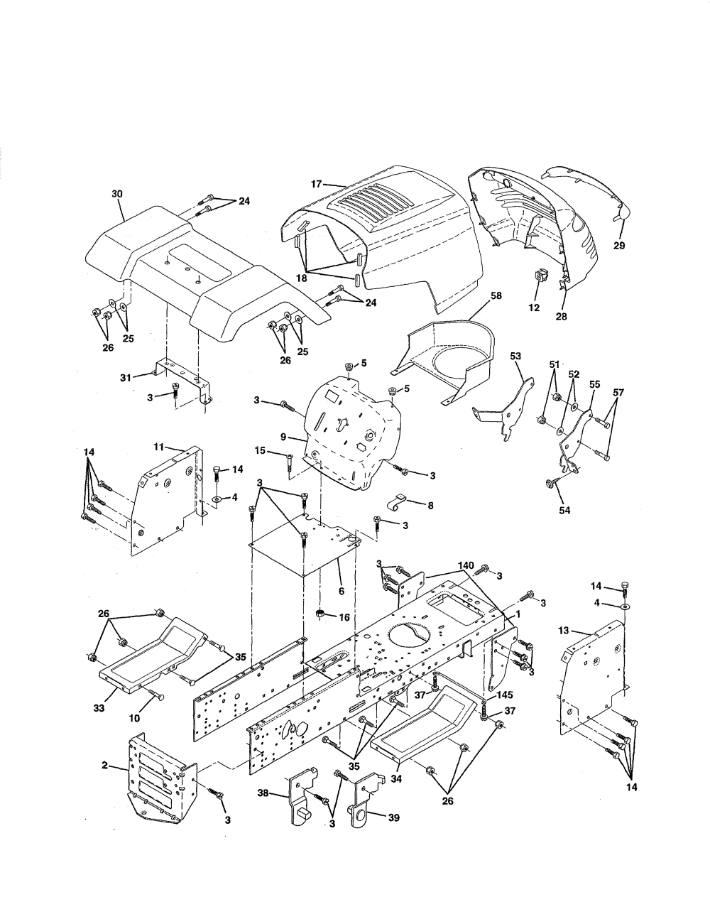 medium resolution of weed eater hd12538j chassis and enclosures diagram