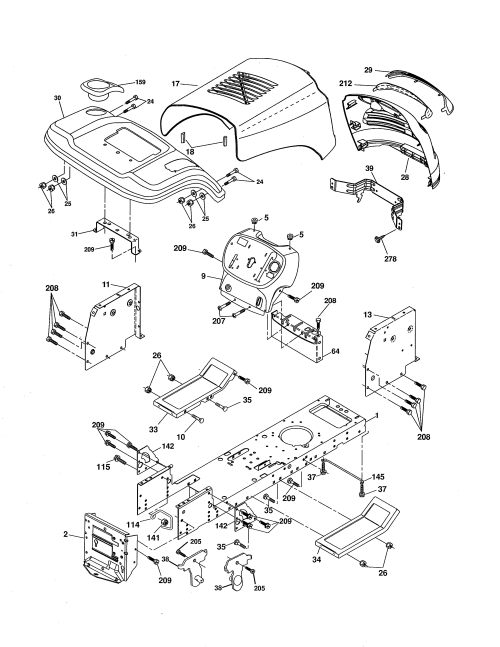 small resolution of ariens 96016002701 chassis diagram