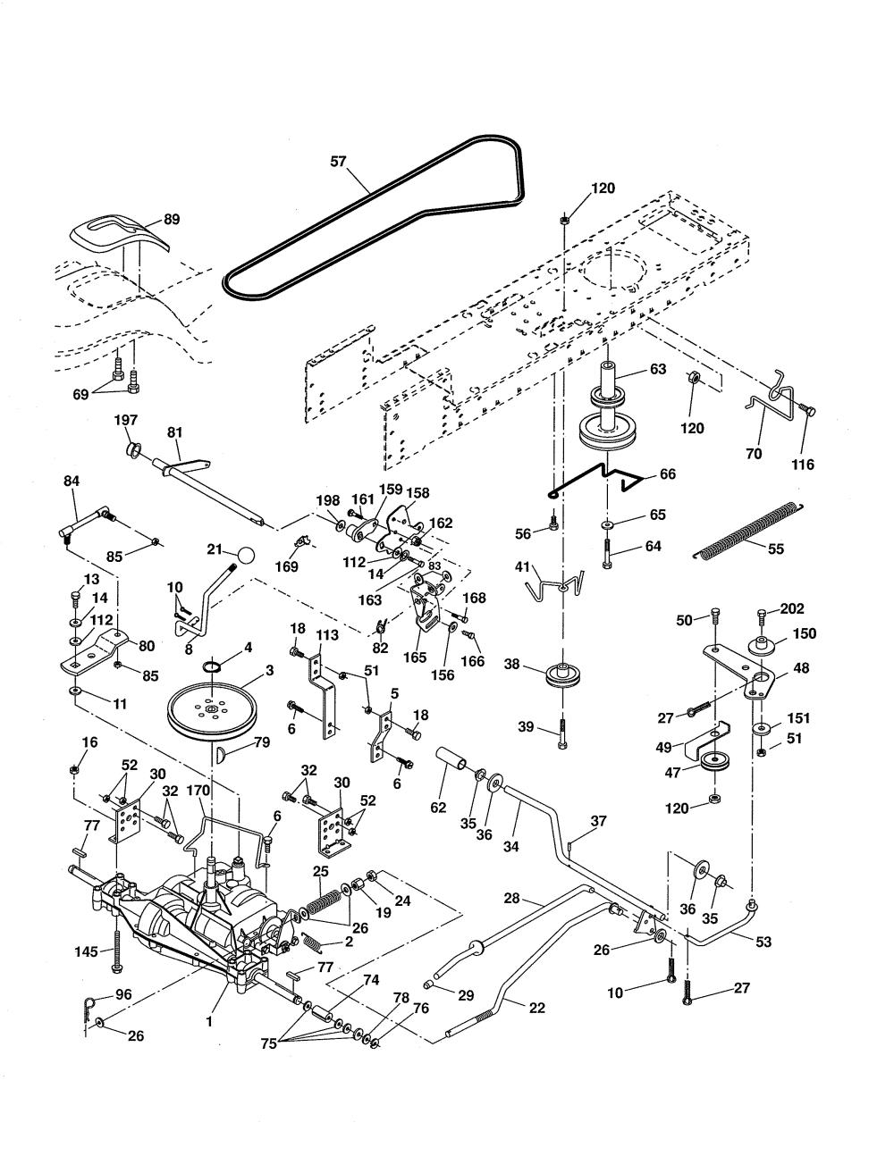 medium resolution of ariens 96016002701 drive diagram
