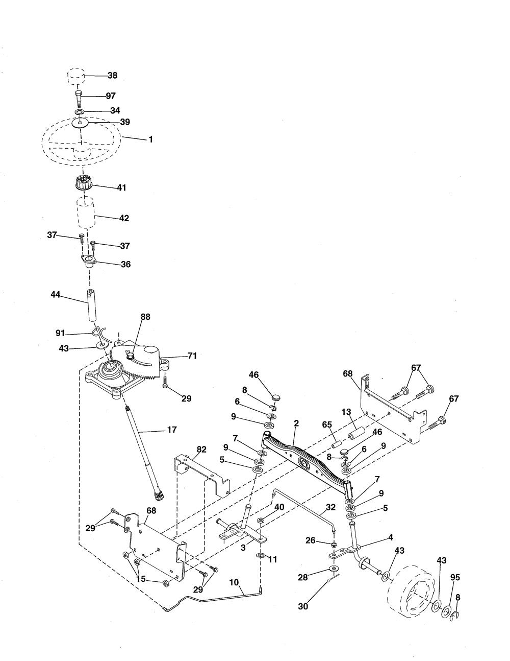 medium resolution of ariens 96016002701 steering diagram