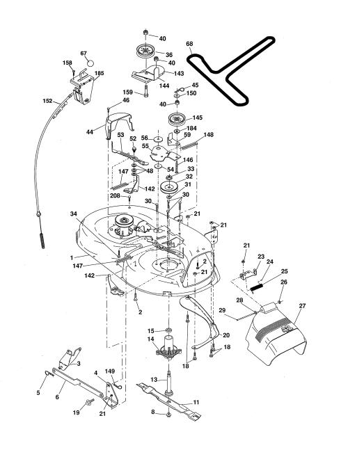 small resolution of ariens 96016002701 mower deck diagram