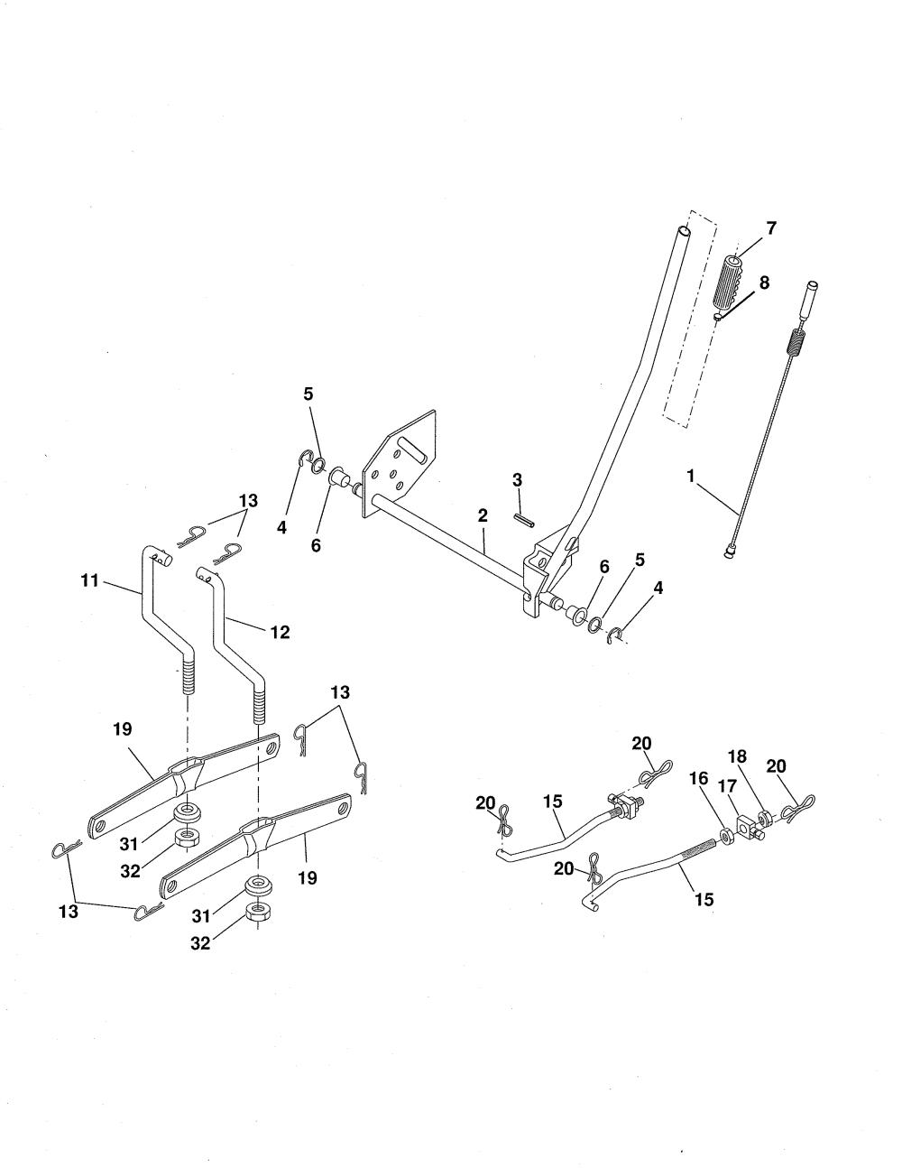 medium resolution of ariens 96016002701 mower lift diagram