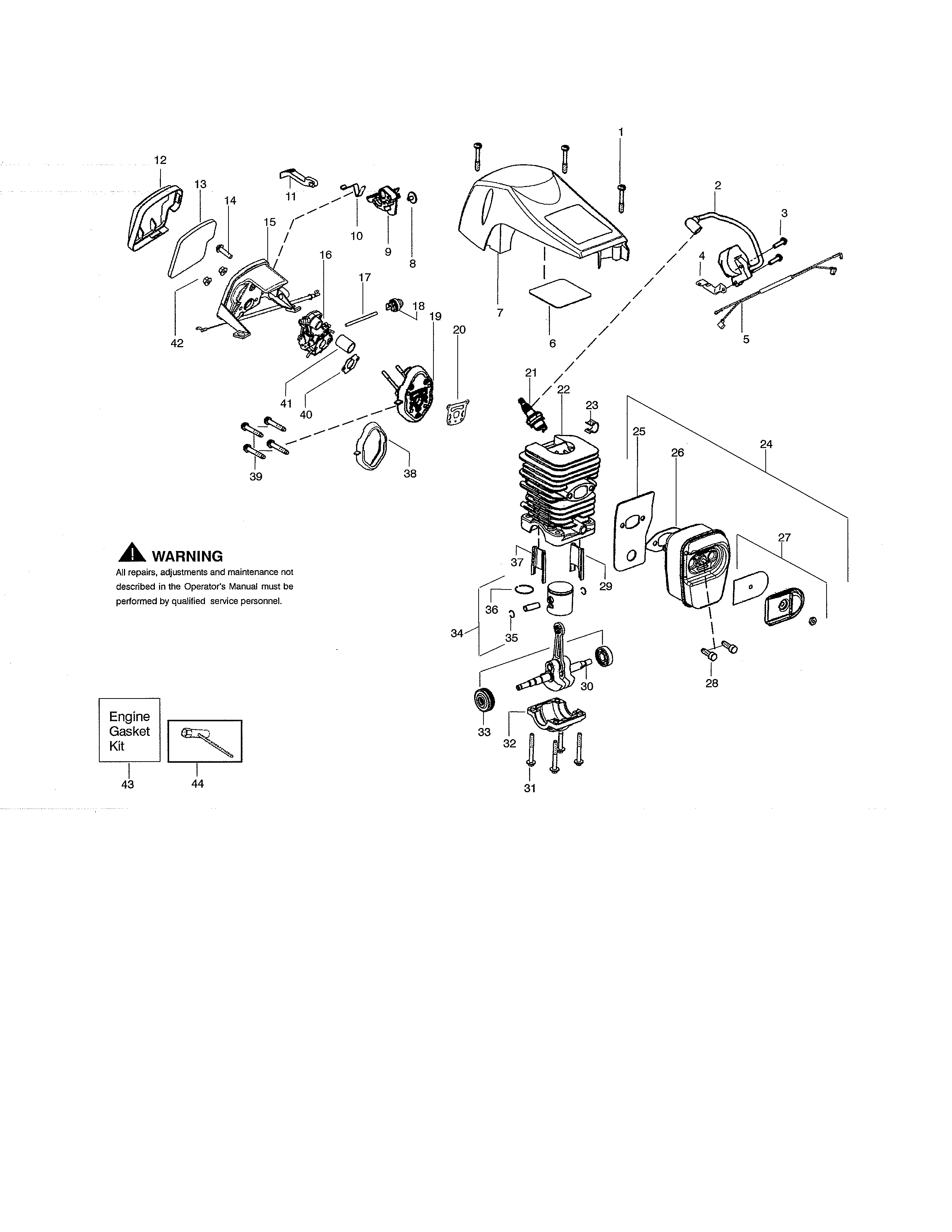 Wiring Diagram Database: Poulan Pro 42cc Chainsaw Parts