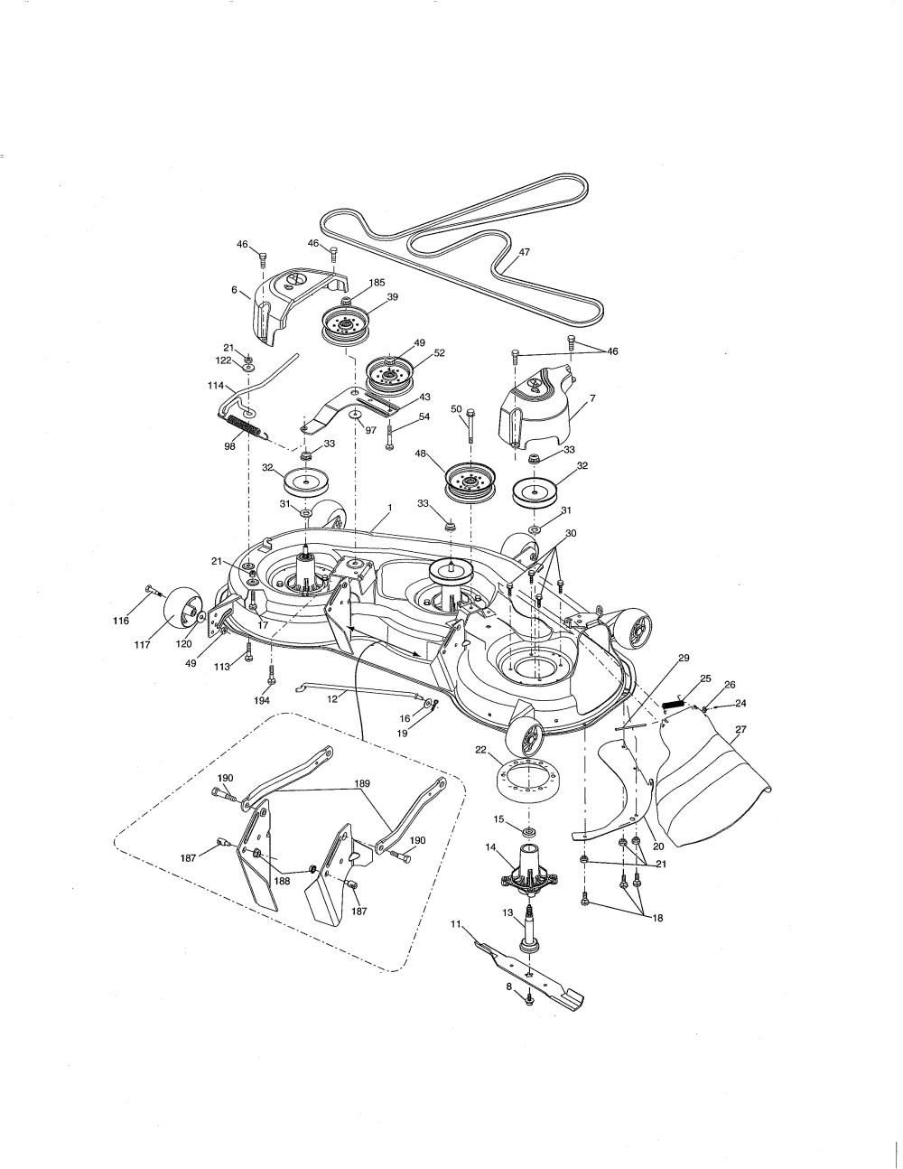 medium resolution of craftsman 917276844 mower deck diagram