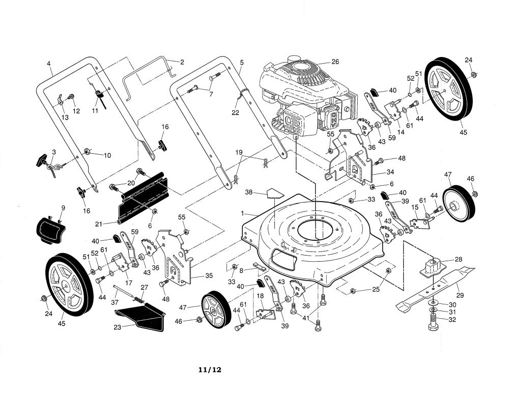 medium resolution of weed eater 96112011700 lawn mower diagram