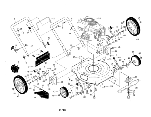 small resolution of weed eater 96112011700 lawn mower diagram