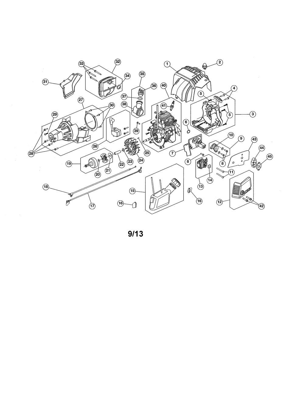 medium resolution of craftsman 316731700 starter housing fuel tank diagram