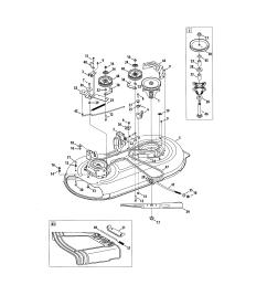 craftsman 247288820 mower deck spindle pulley diagram [ 2550 x 3300 Pixel ]