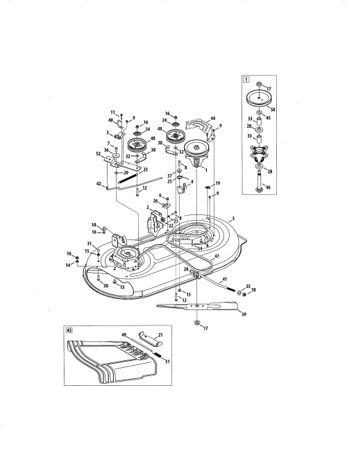 small resolution of craftsman 247288820 mower deck spindle pulley diagram