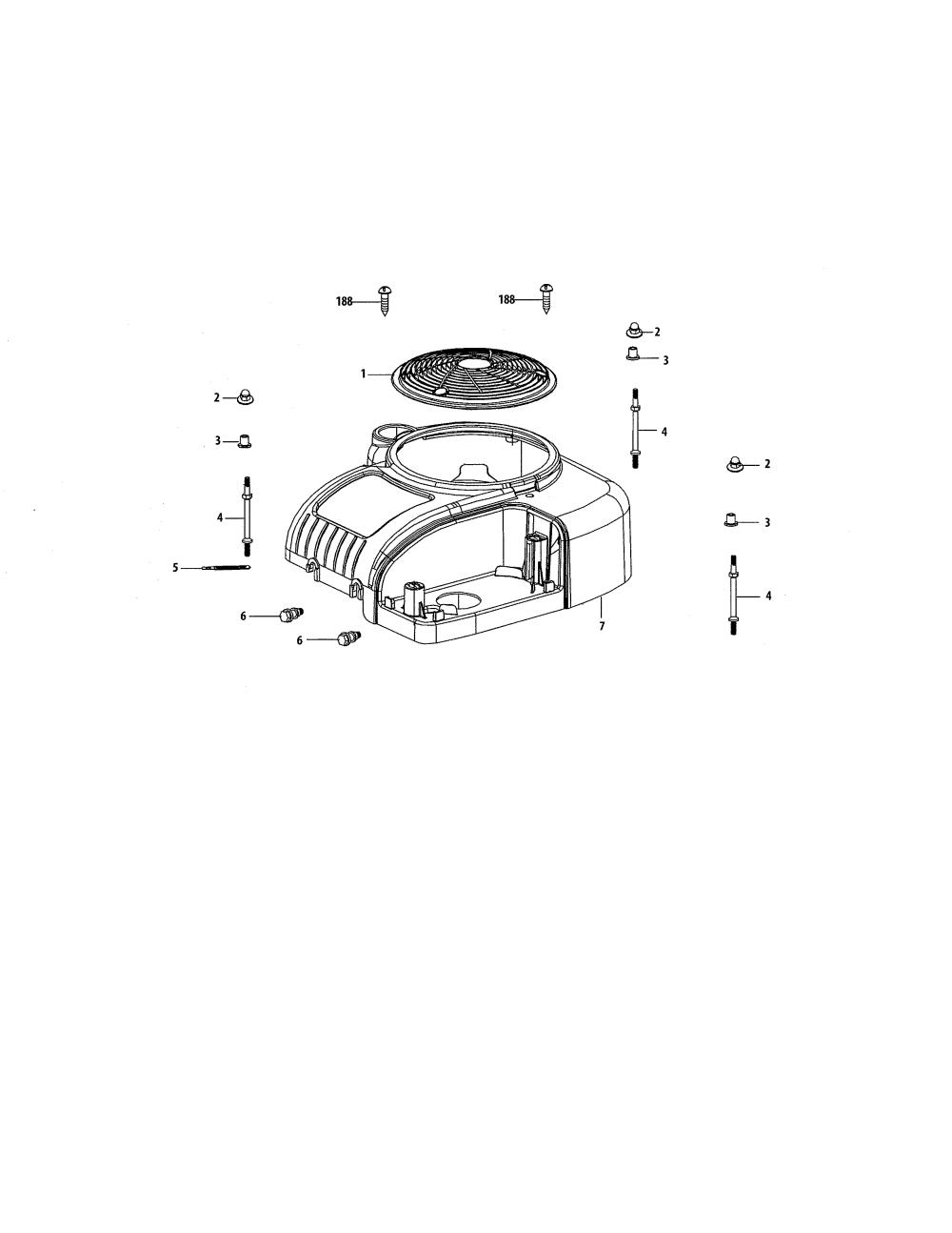 medium resolution of mtd 4p90hu air shield debris shield diagram