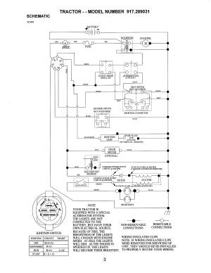Craftsman Lawn Mower 917255460 Wiring Diagram  Wiring