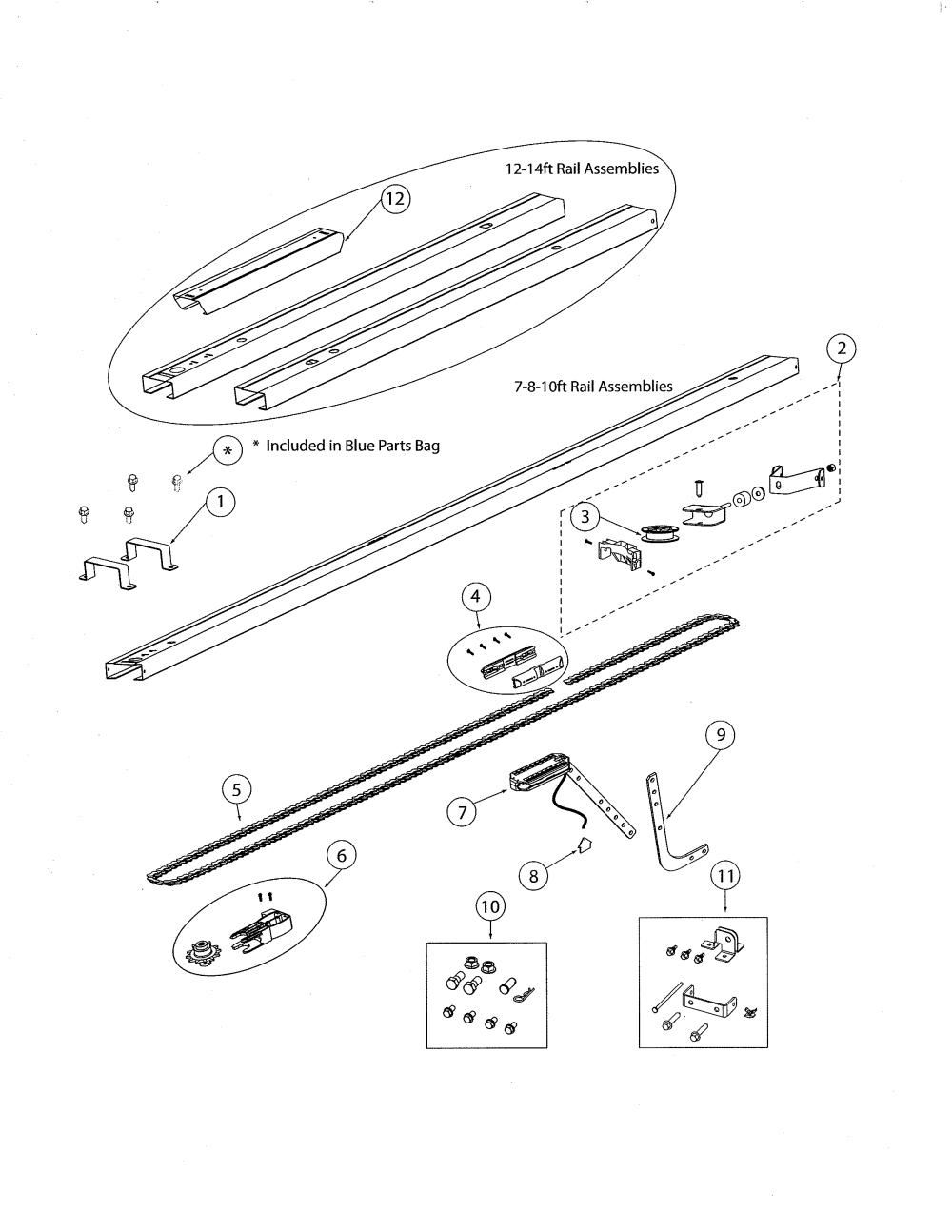 medium resolution of genie garage door part diagram