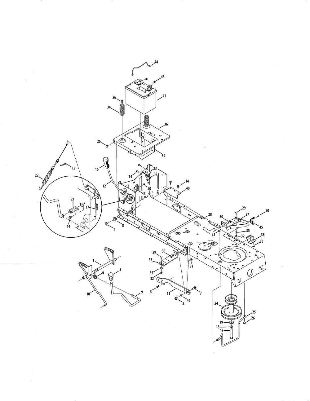 medium resolution of craftsman 247288853 battery frame diagram
