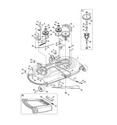 craftsman 247288843 mower deck spindle pulley diagram [ 2550 x 3300 Pixel ]