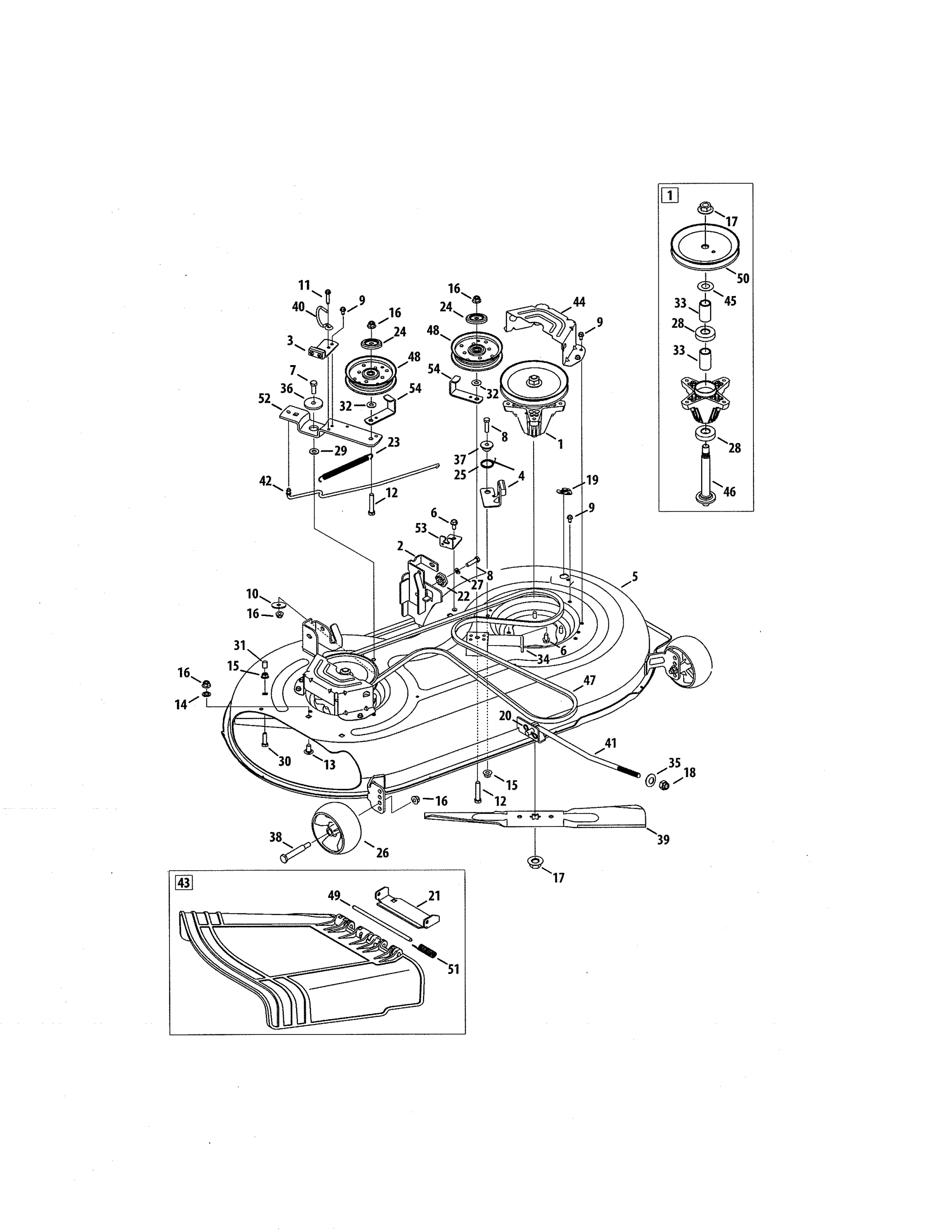 hight resolution of craftsman 247288843 mower deck spindle pulley diagram