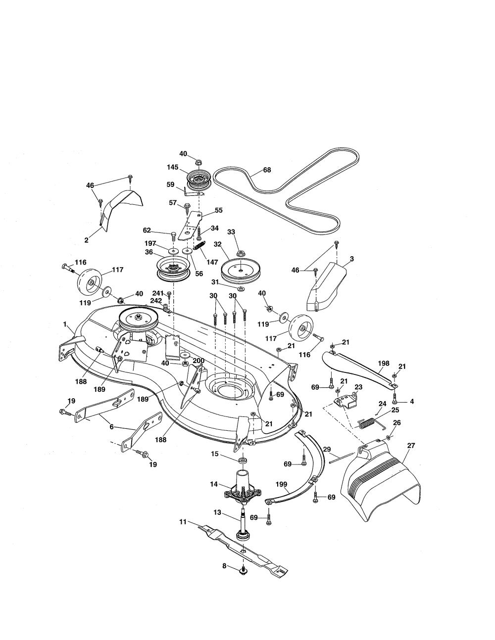medium resolution of craftsman 917255728 mower deck diagram