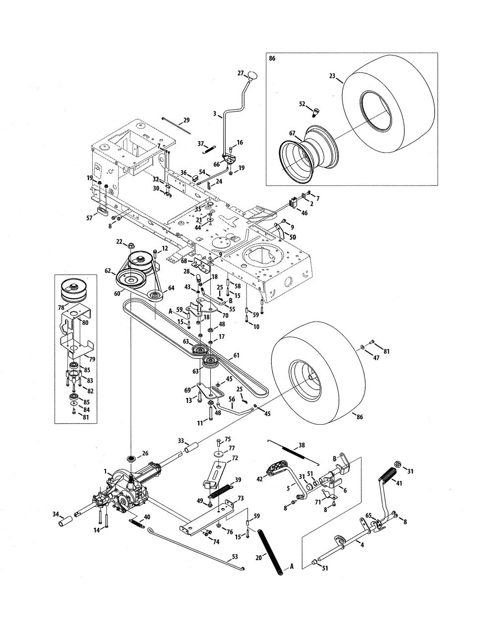 medium resolution of mtd model 13a0785t055 lawn tractor genuine parts mtd lawn mower transmission 918 04004 mtd transmission diagram