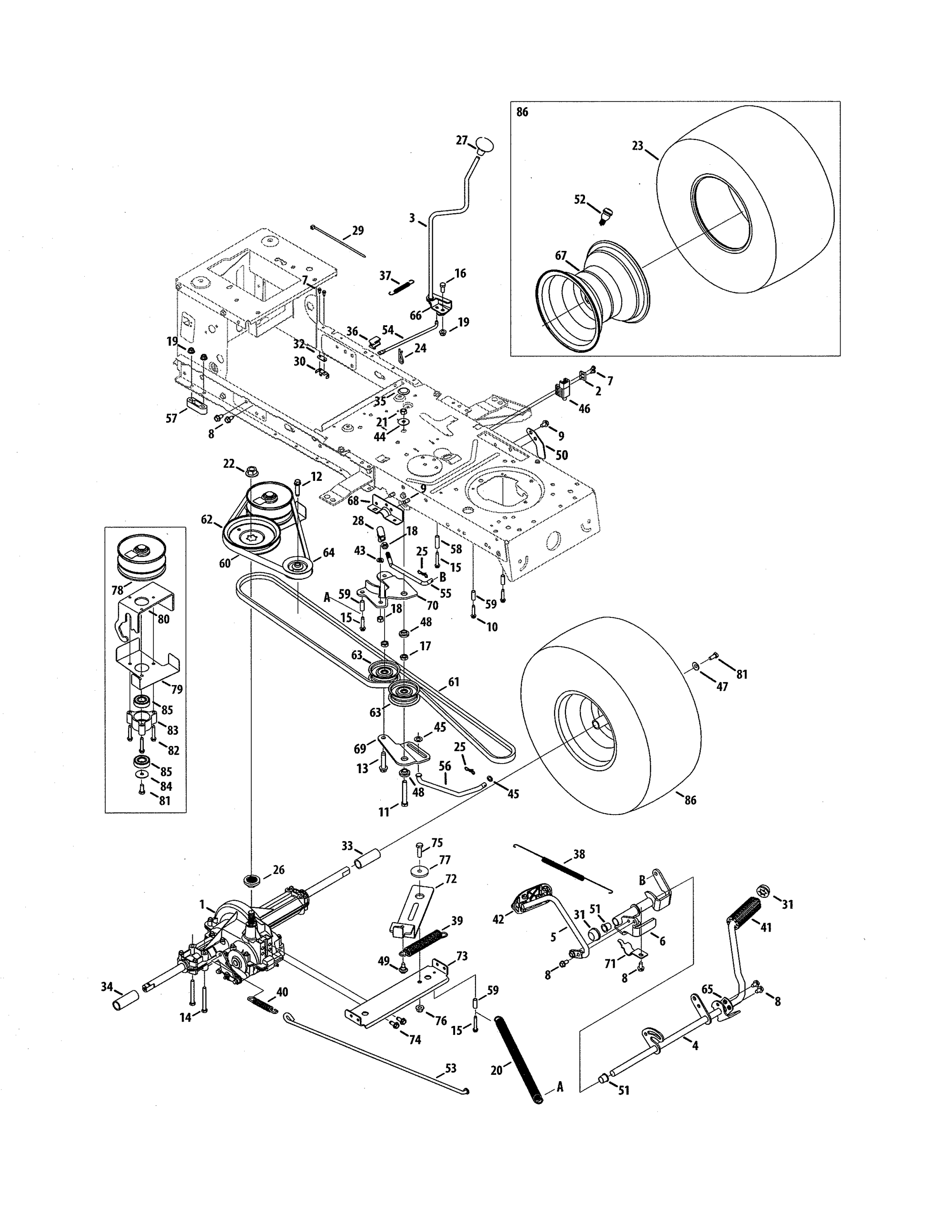 hight resolution of mtd 13a0785t055 transmission diagram