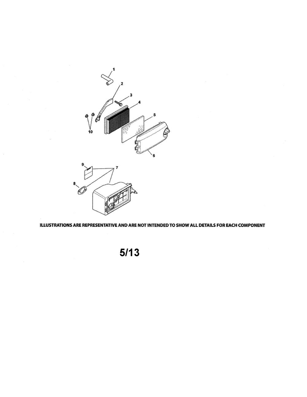 medium resolution of kohler ph xt675 2044 air intake diagram