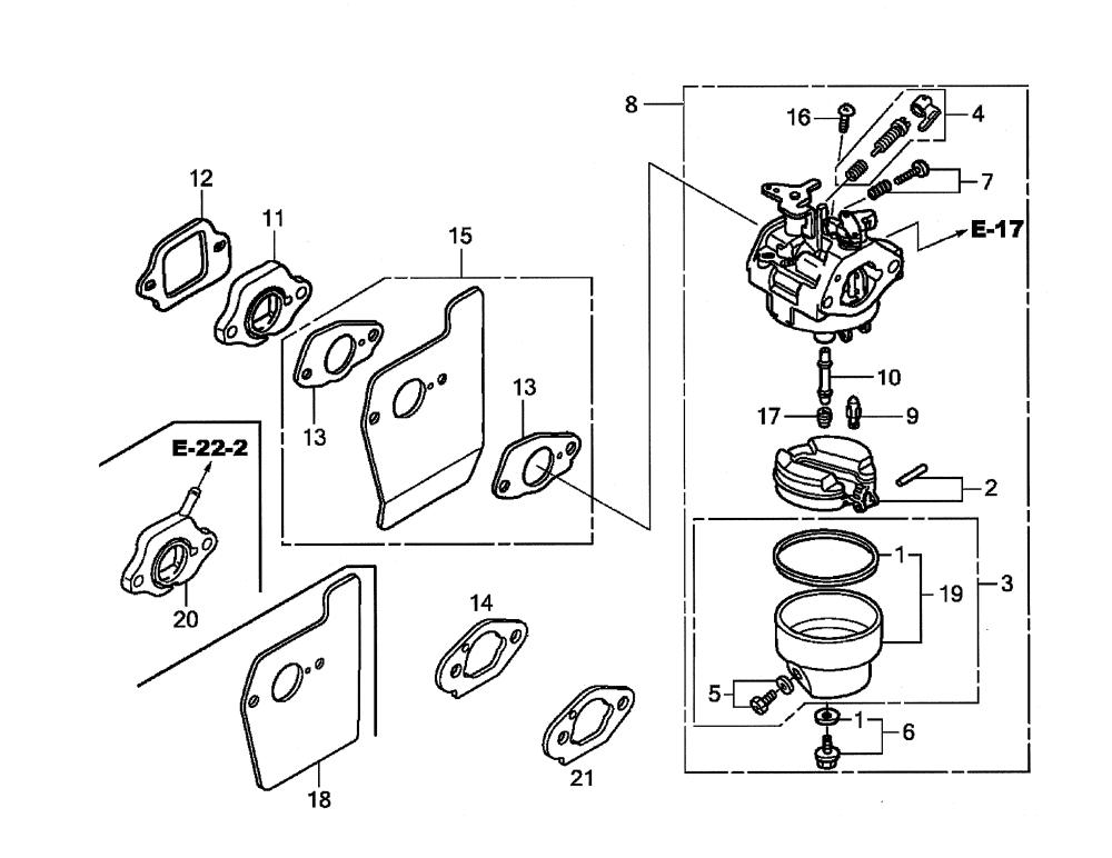 medium resolution of honda gcv190 labhh carburetor diagram
