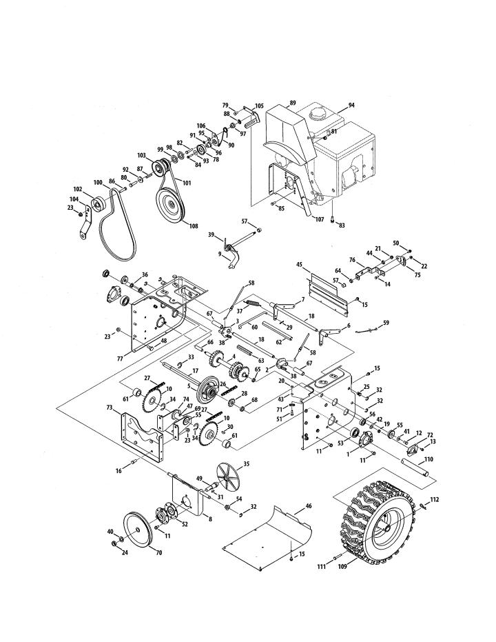 Model 247883971 | CRAFTSMAN SNOWTHROWER Parts