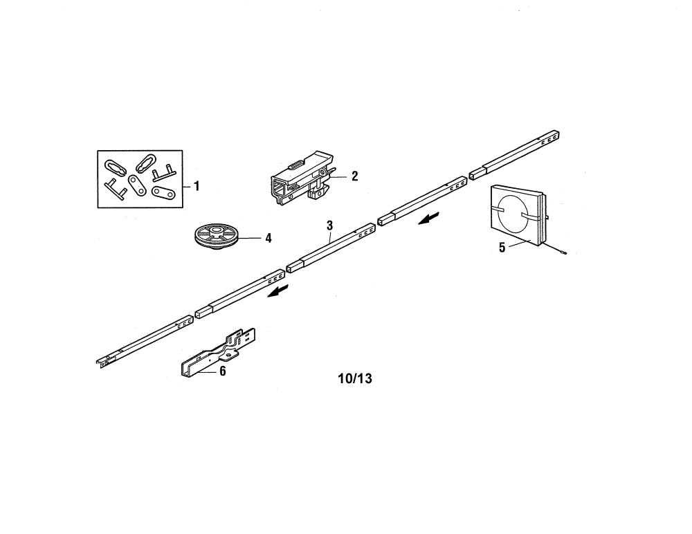 medium resolution of craftsman 13953930dm rail assembly diagram