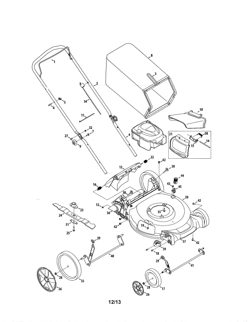 small resolution of mtd 11a b25n799 lawn mower diagram