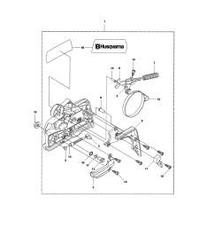 husqvarna 435 chain brake clutch cover 435 diagram [ 2550 x 3300 Pixel ]
