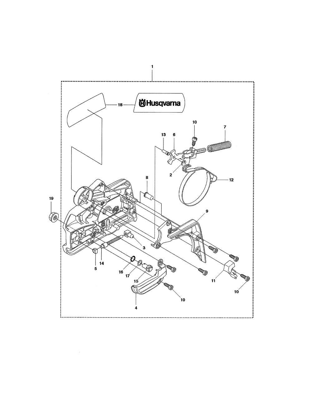 medium resolution of husqvarna 435 chain brake clutch cover 435 diagram