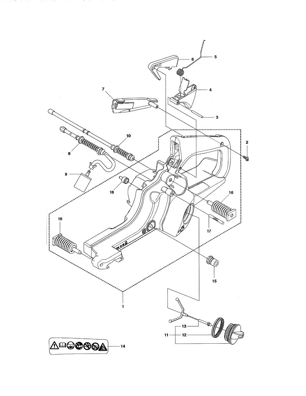 medium resolution of husqvarna 435 fuel tank diagram