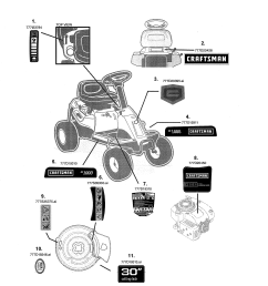 craftsman 247290001 decals diagram [ 2550 x 3300 Pixel ]