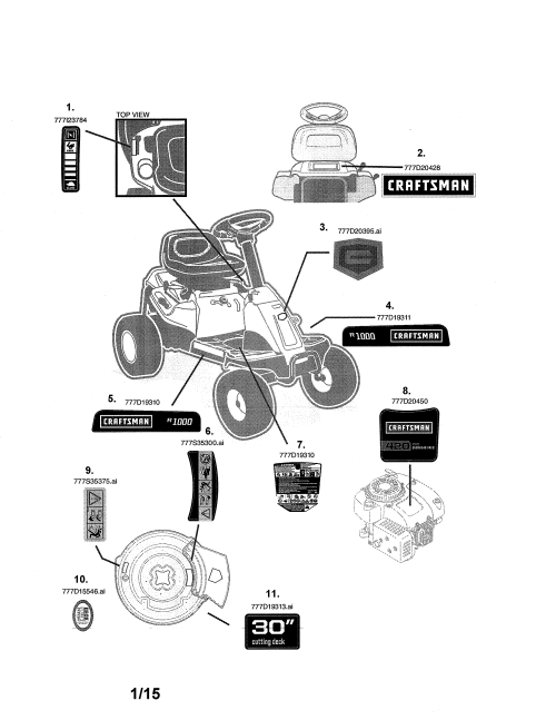 small resolution of craftsman 247290001 decals diagram