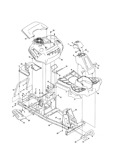 small resolution of craftsman 247290001 fender frame diagram