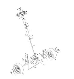 craftsman 247290001 steering diagram [ 2550 x 3300 Pixel ]