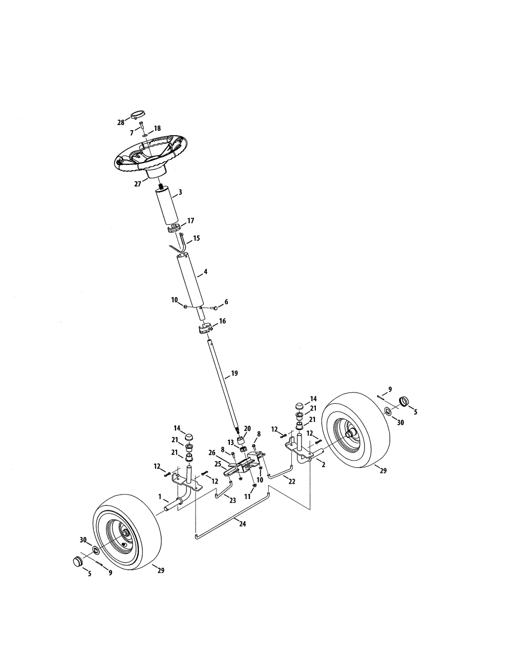 medium resolution of craftsman 247290001 steering diagram