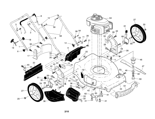 small resolution of husqvarna hu700f 96145000903 engine housing handle diagram